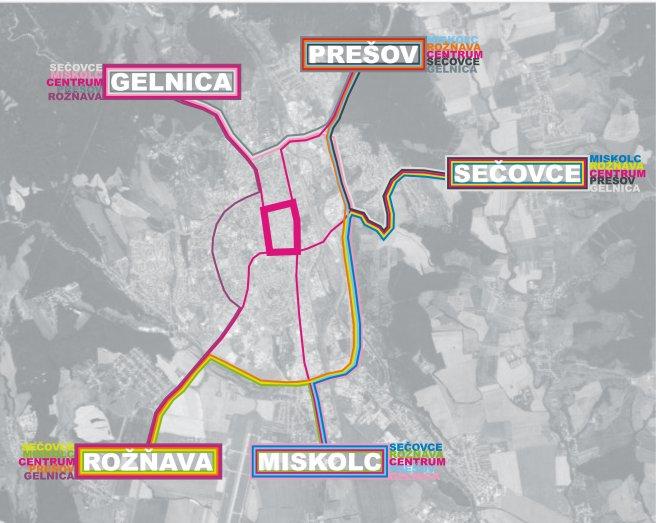 Svetelná mapa mesta