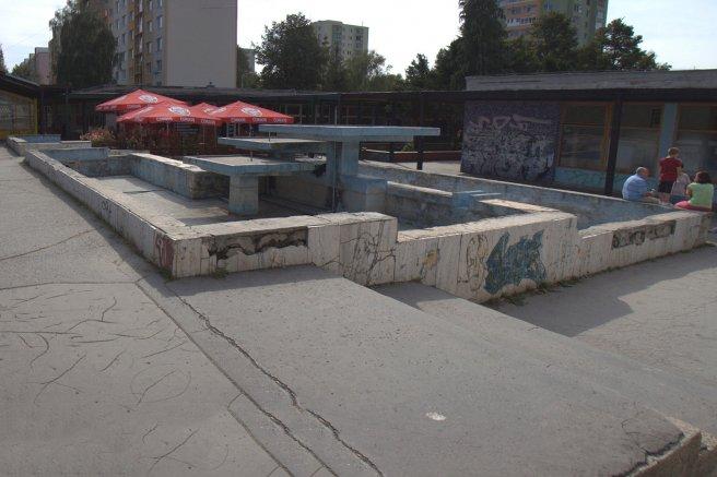 Fontána v Centrume  na Sídlisku III