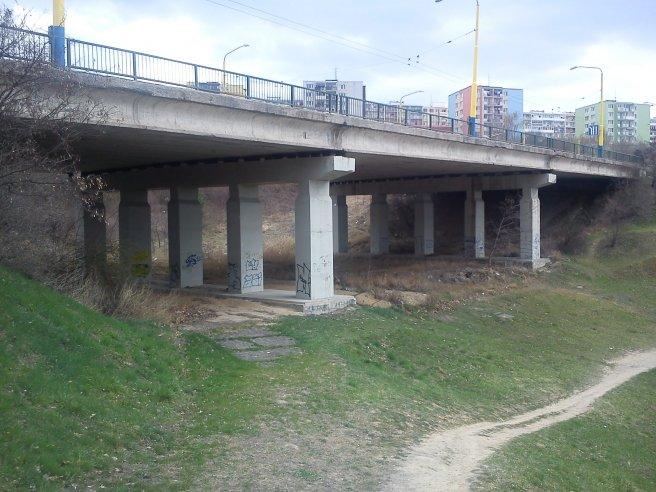 Hojdačka pod mostom