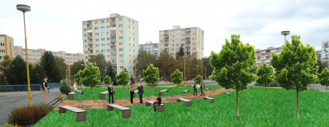 Revitalizácia parku v blízkosti nemocnice L. Pasteura Košice
